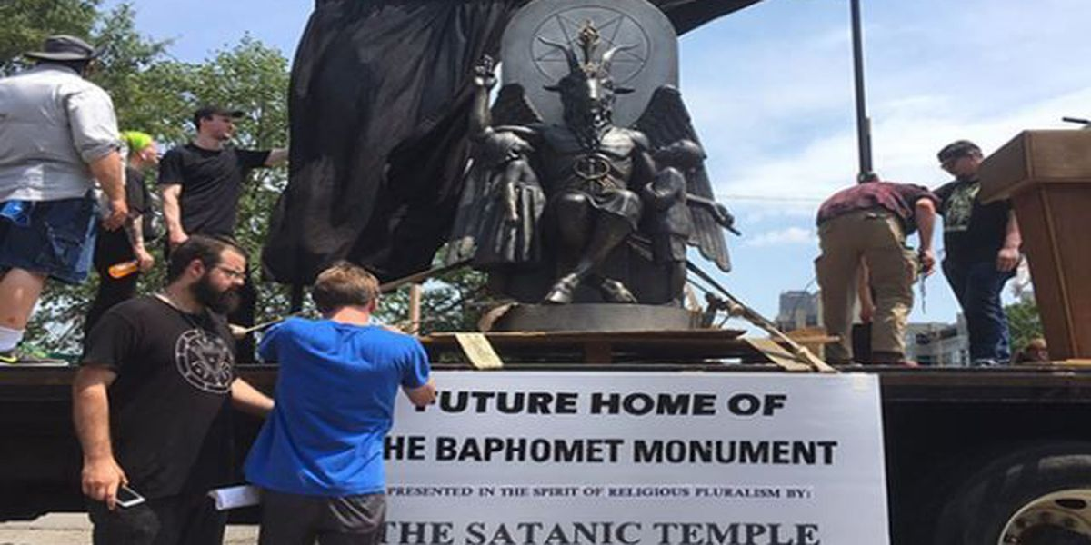 Satanic Temple rallies at capitol in Little Rock