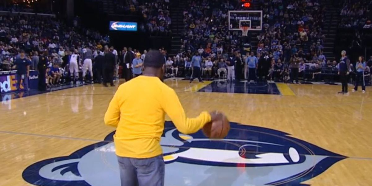 Grizzlies fan wins new car with half court shot