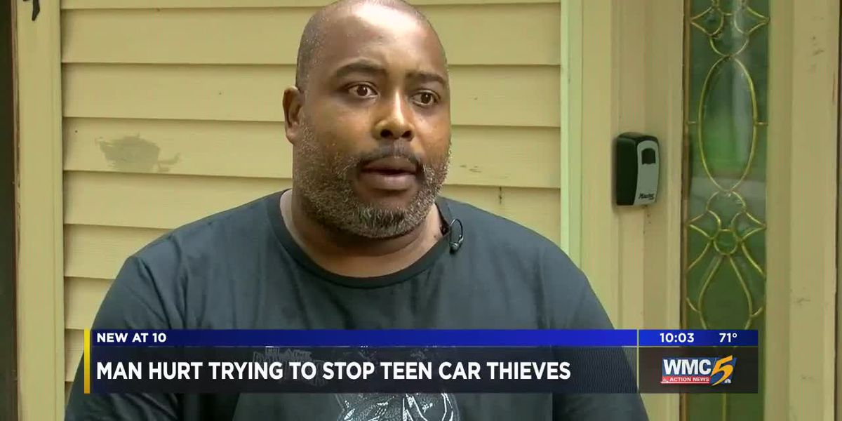 Memphis man hurt trying to stop teen thieves from stealing mom's car