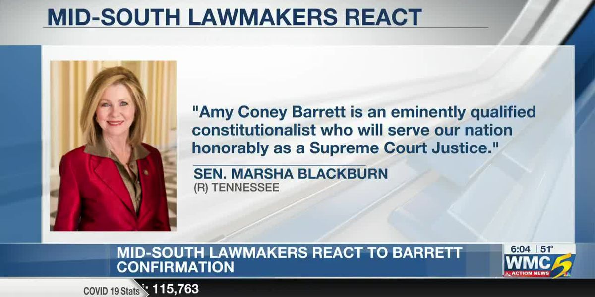 Mid-South lawmakers react to Barrett joining Supreme Court