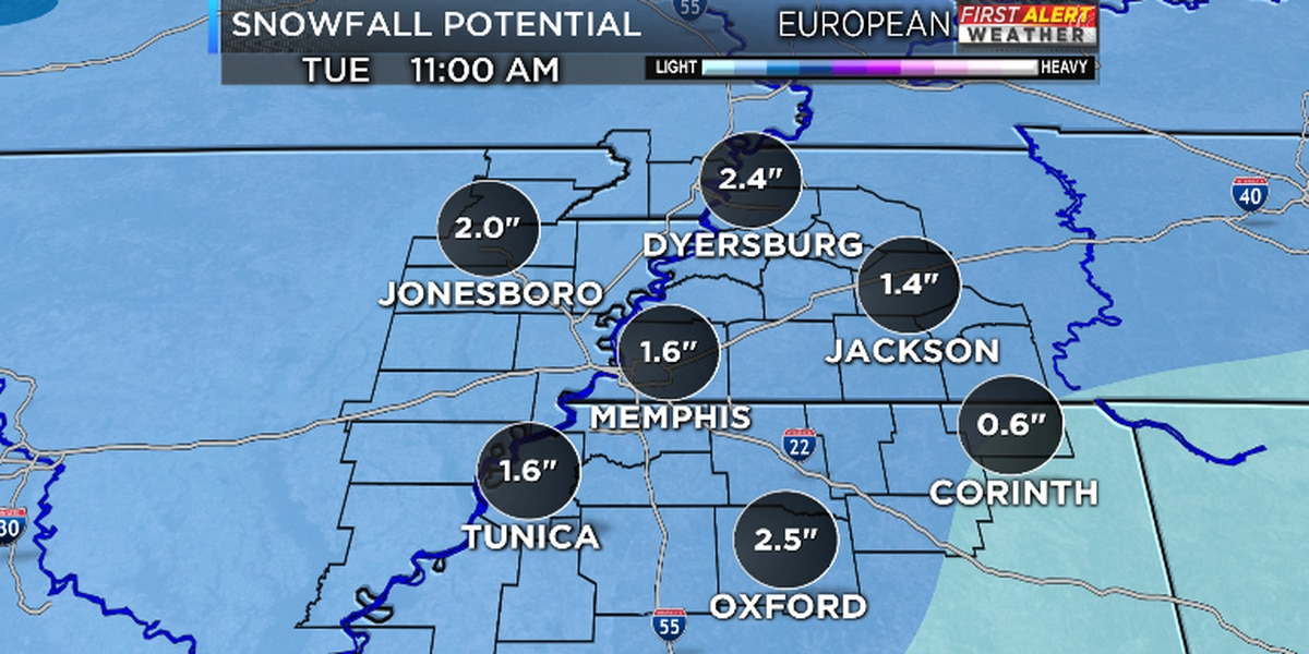 FIRST ALERT: More snow possible early next week