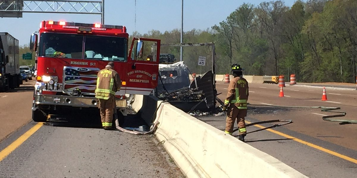 Car fire closes eastbound I-240 near Walnut Grove
