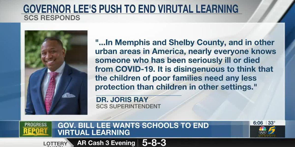 Gov. Bill Lee wants schools to end virtual learning