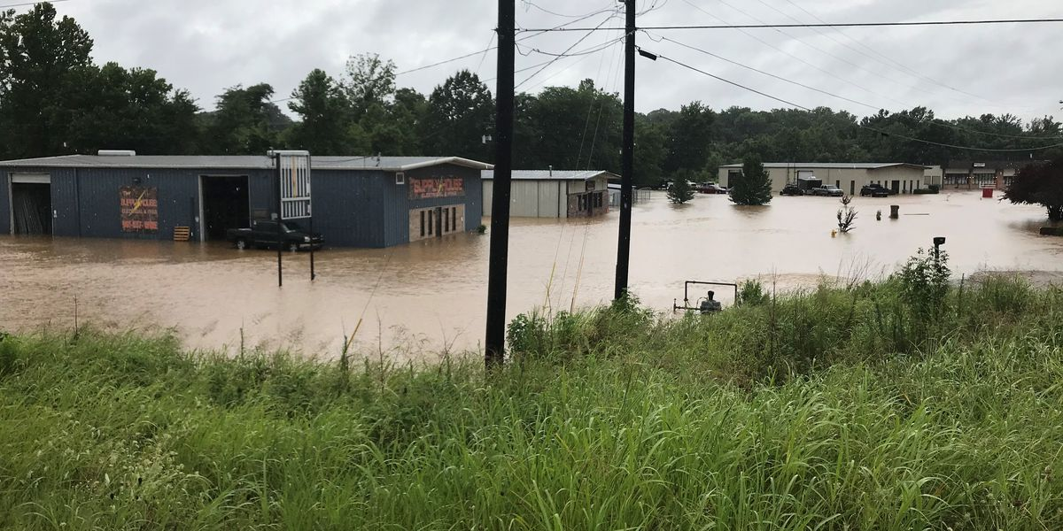 Businesses flooded in Tipton County; roads washed out and closed