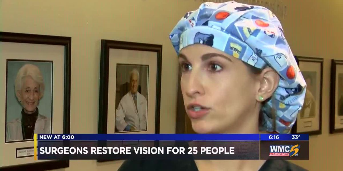 Mid-South surgeons restore vision for 25 people