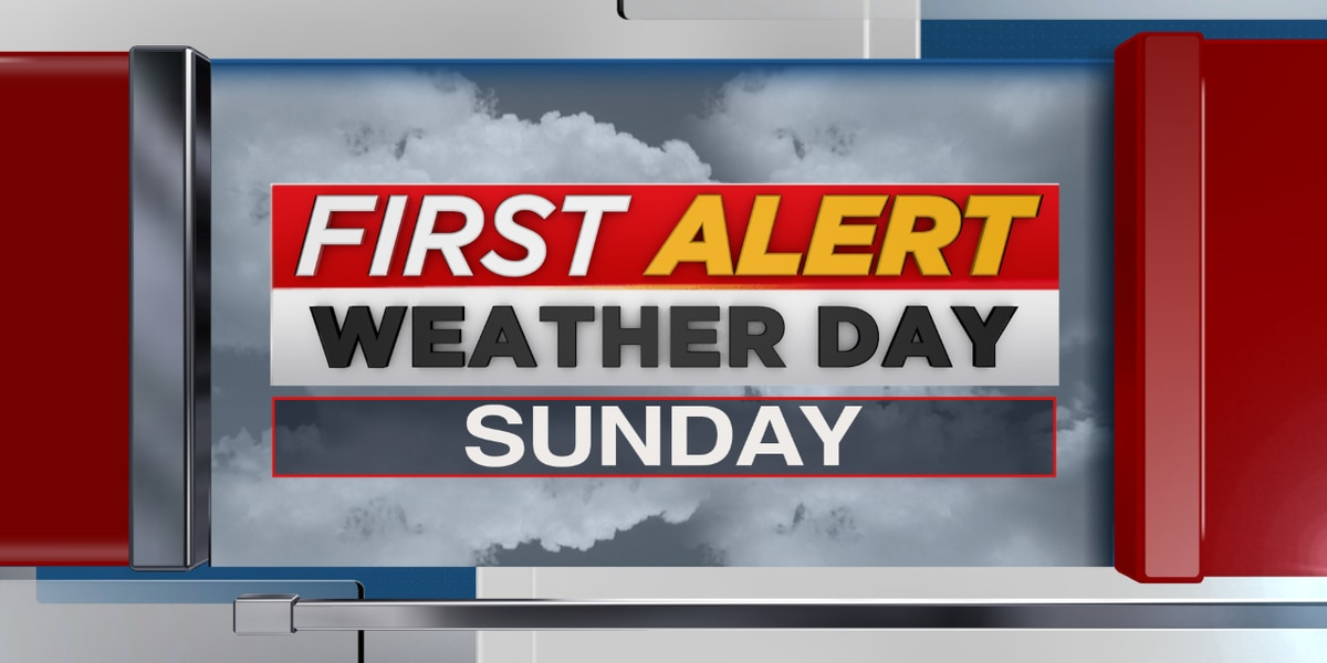 Sunday is a FIRST ALERT WEATHER DAY: Tracking strong to severe storms on Easter