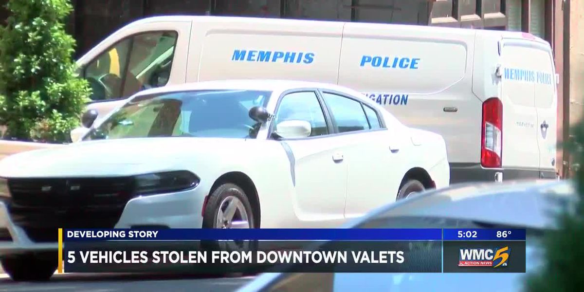 5 vehicles stolen from downtown valets