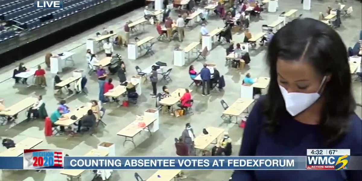 Counting absentee votes at FedExForum