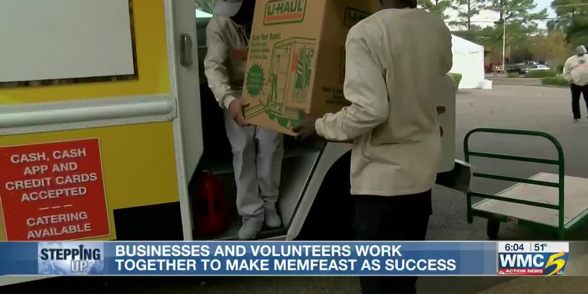MemFeast volunteers stepping up to feed the homeless during the pandemic