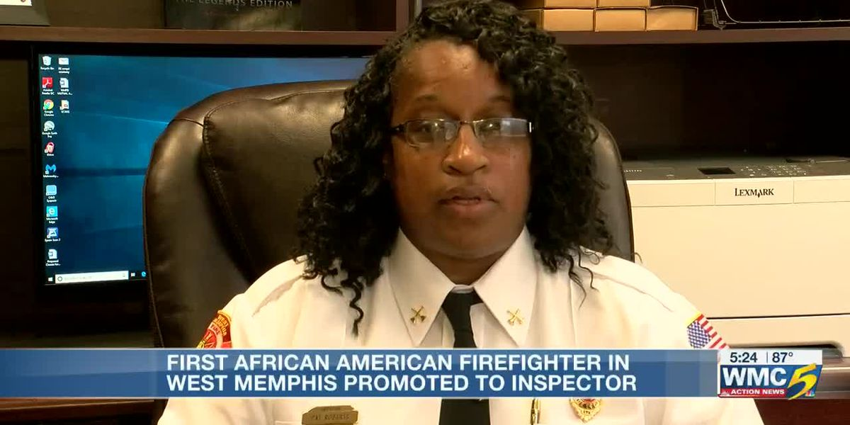 West Memphis' first African American female firefighter promoted to inspector