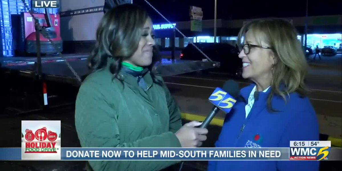 12th Annual WMC Action News 5 Holiday Food Drive joined by Cathy Pope