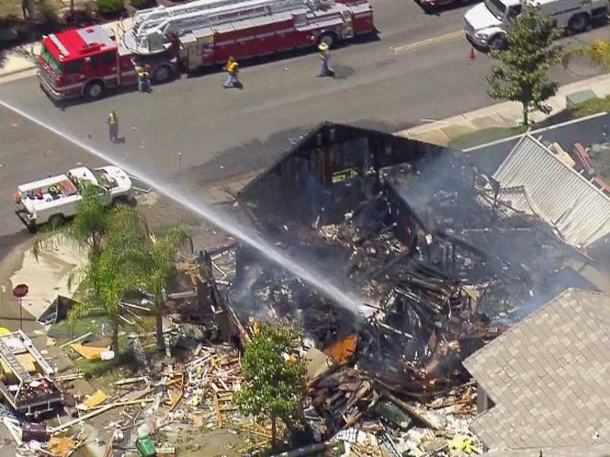 California home gas blast kills 1, injures 15