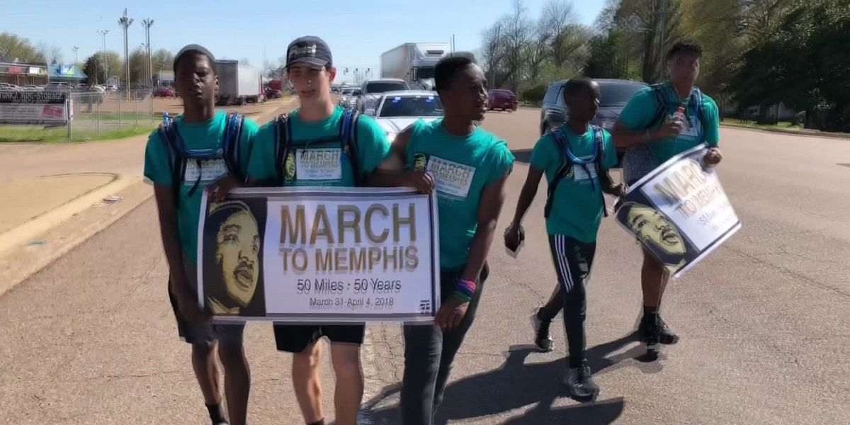 Teens march 50 miles to Memphis in honor of MLK