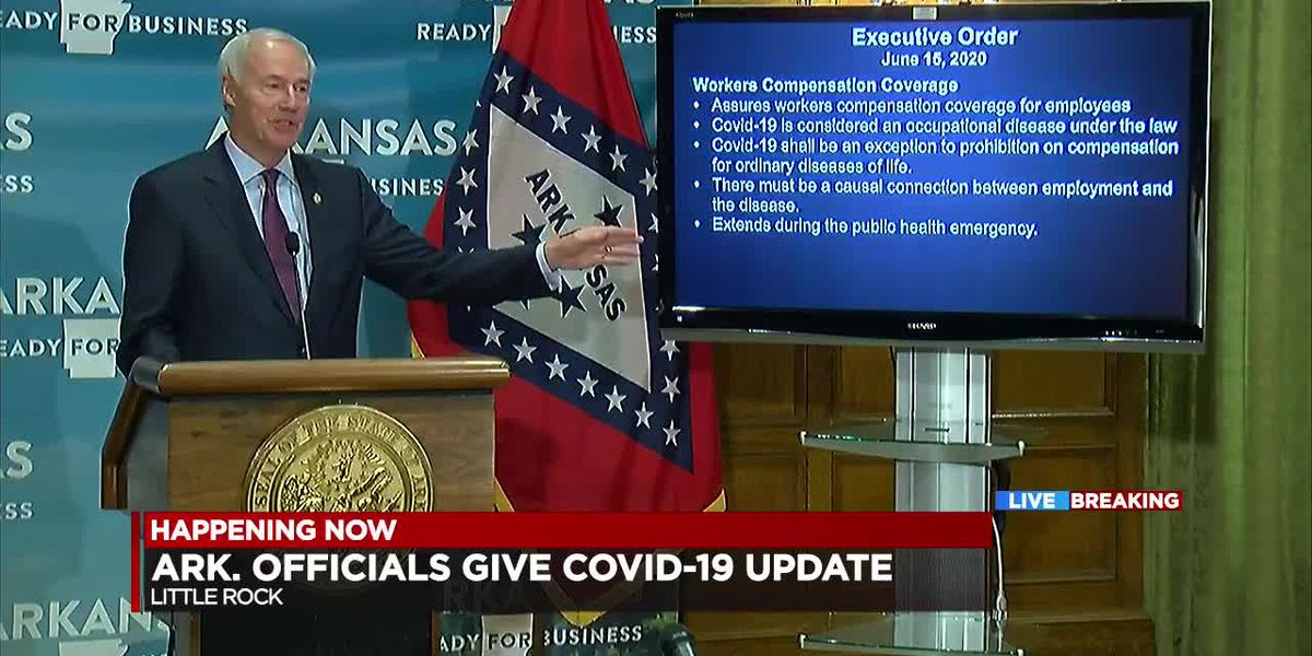 Gov. Hutchinson gives businesses virus lawsuit protections; 4,383 active cases