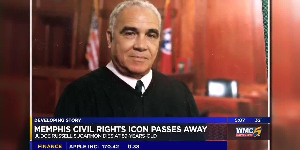 Memphis civil rights pioneer Judge Russell Sugarmon dies