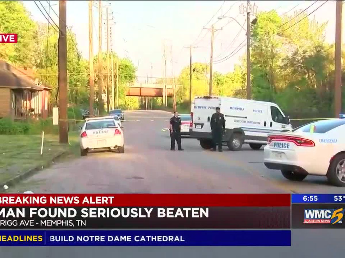 Man found beaten in middle of South Memphis street
