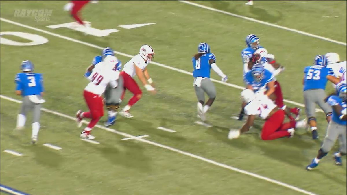 Memphis Tigers Outlast South Alabama 52-35