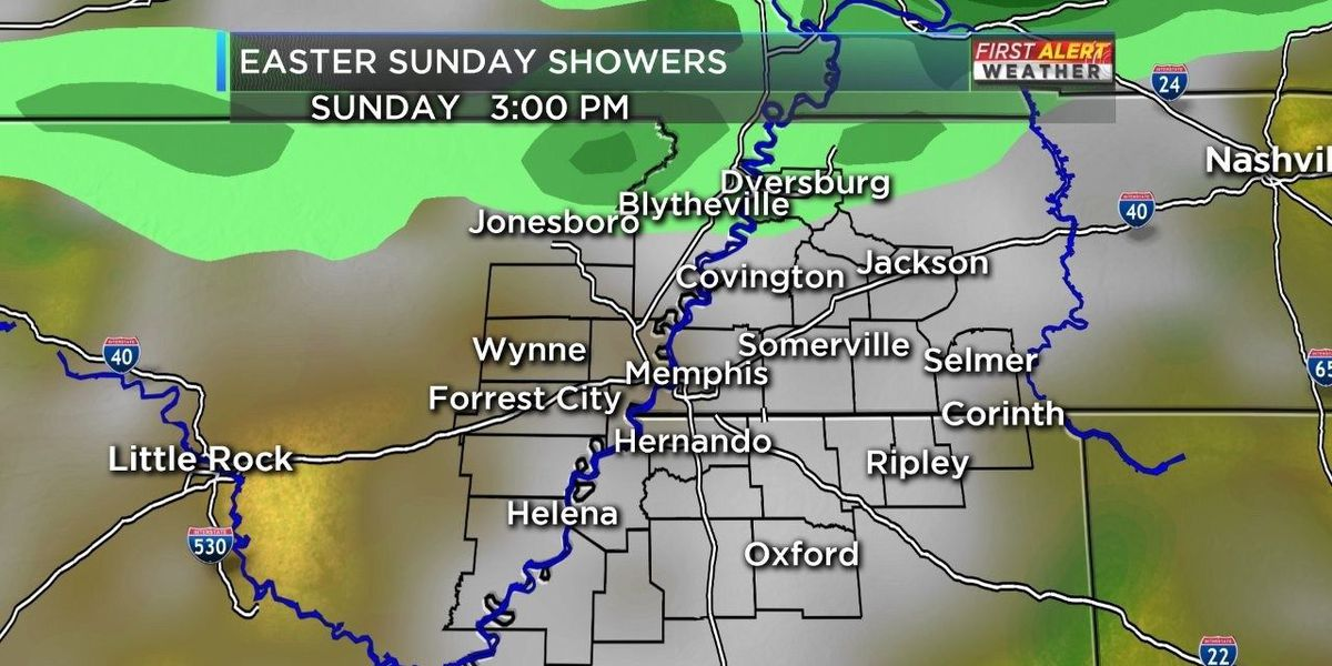 Easter Sunday showers for some