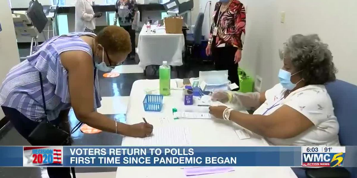 Voters return to polls first time since pandemic began