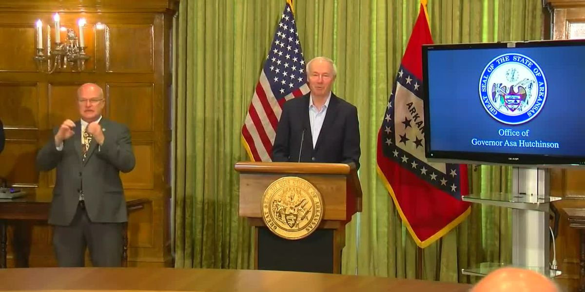"Gov. Hutchinson: ""We're on a downward trajectory"""