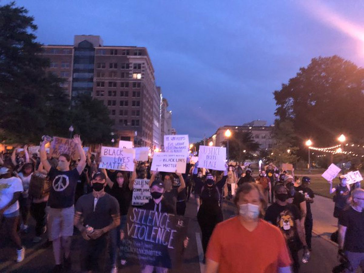 Protest leaders join forces on sixth night of protests, citywide curfew now in effect