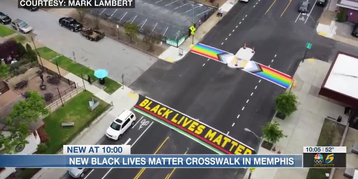 Black Lives Matter crosswalk unveiled in Memphis