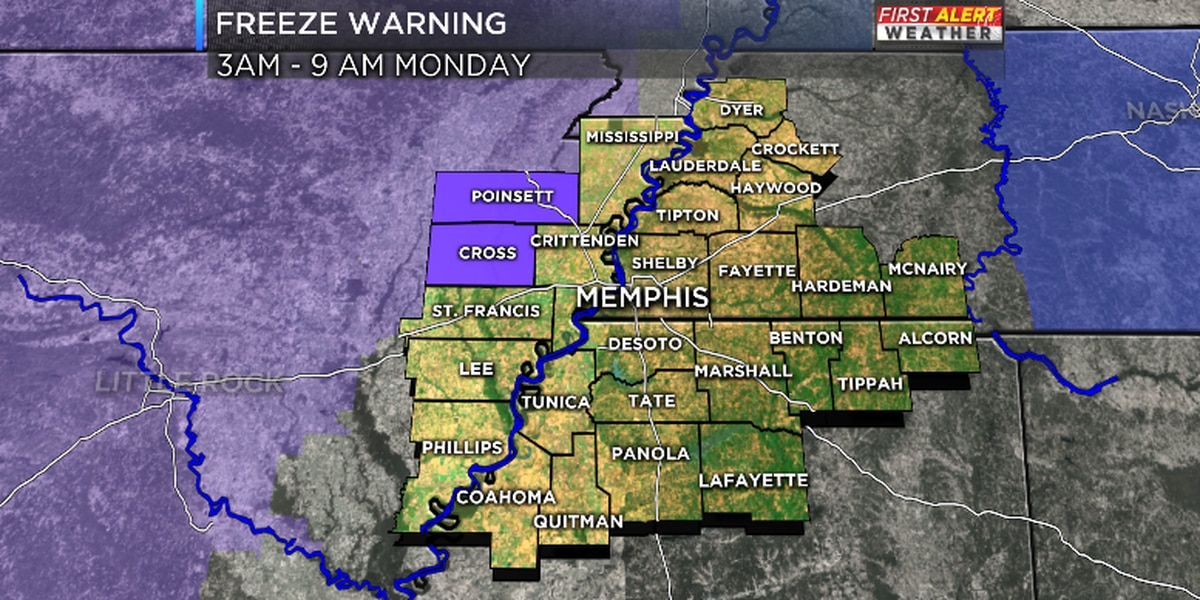 FIRST ALERT: Freeze Warning for parts of the Mid-South