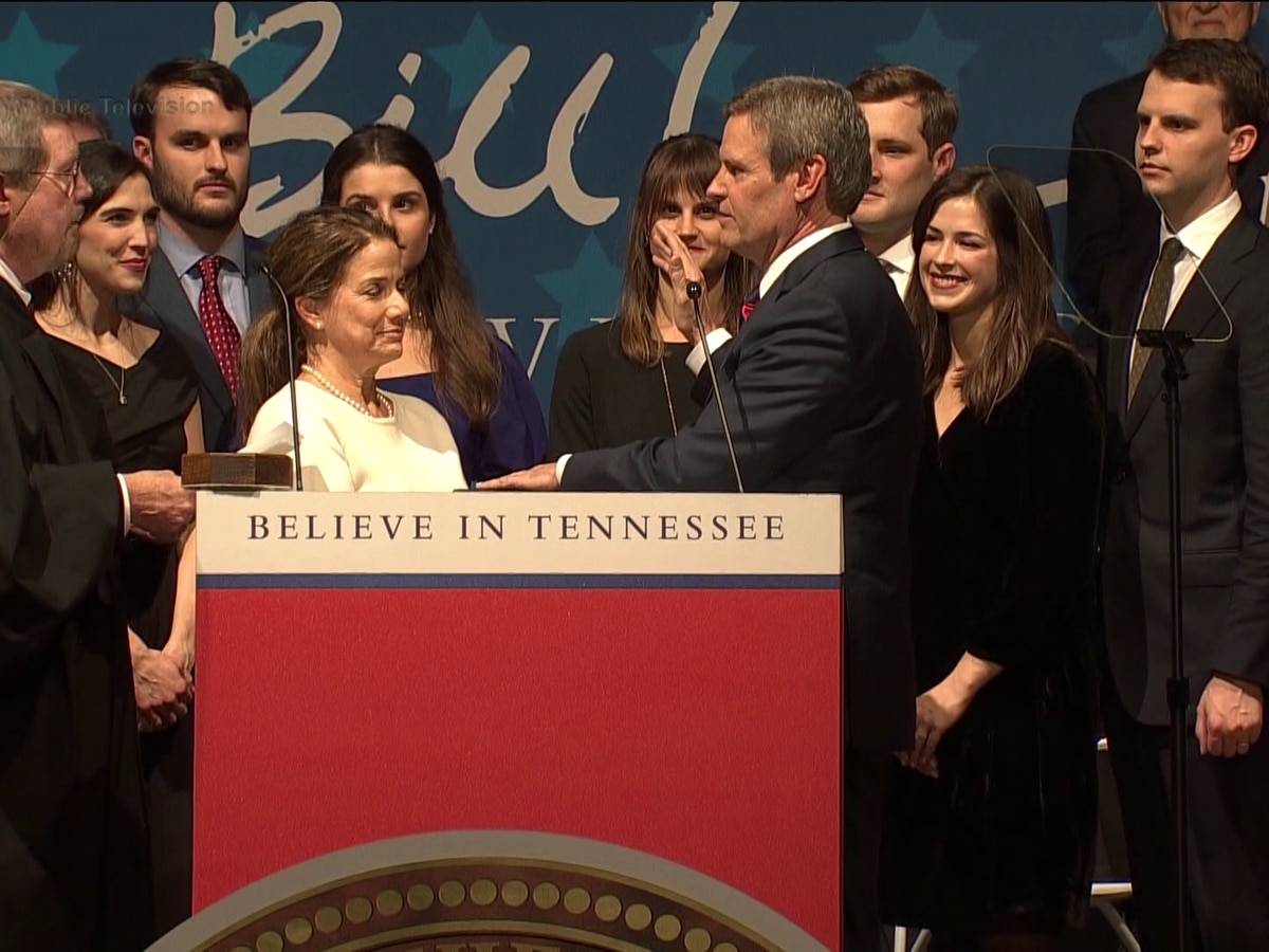 Bill Lee sworn in as Tennessee's 50th governor