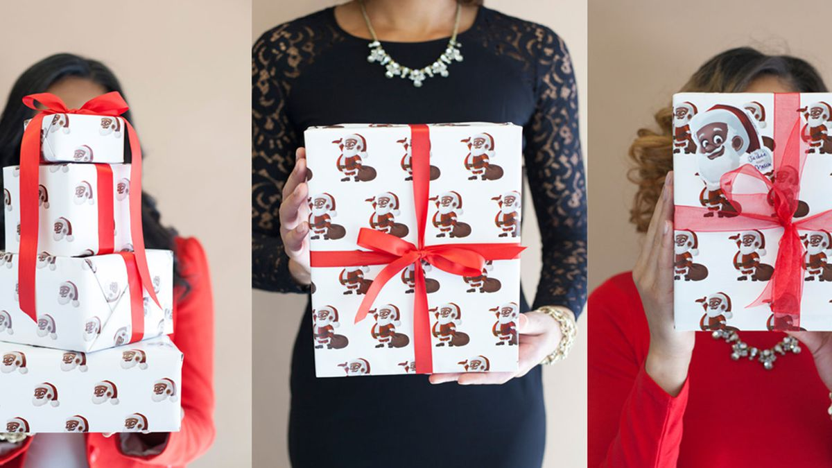 'Clarence Claus' wrapping paper offers black alternative to Santa