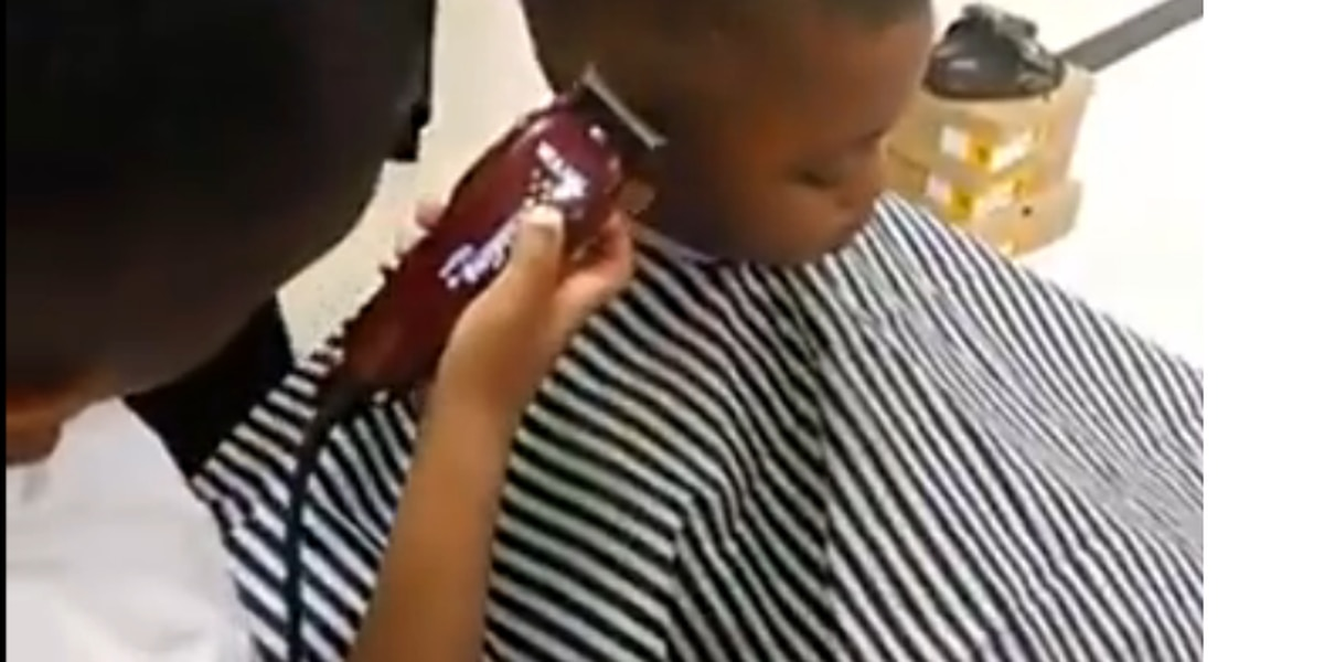 6-year-old Memphis barber shows off skills