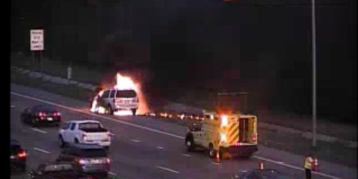SUV catches fire on I-240