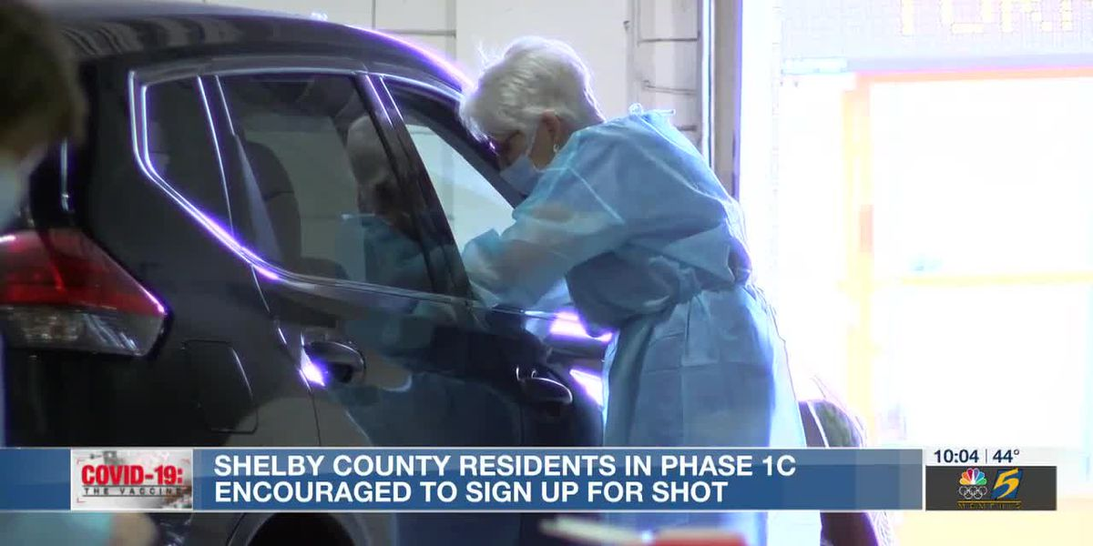 Shelby County residents in phase 1C encouraged to sign up for shot