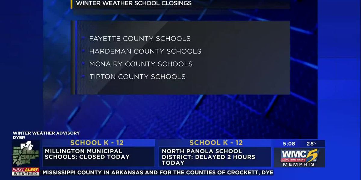 Schools closed Thursday due to weather