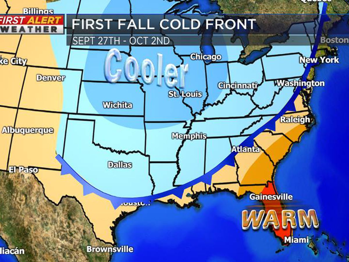 Cold front to bring fall-like temperatures next week