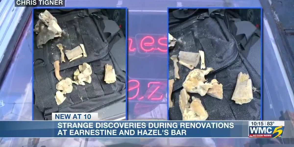 Bones found in wall at Earnestine and Hazel's
