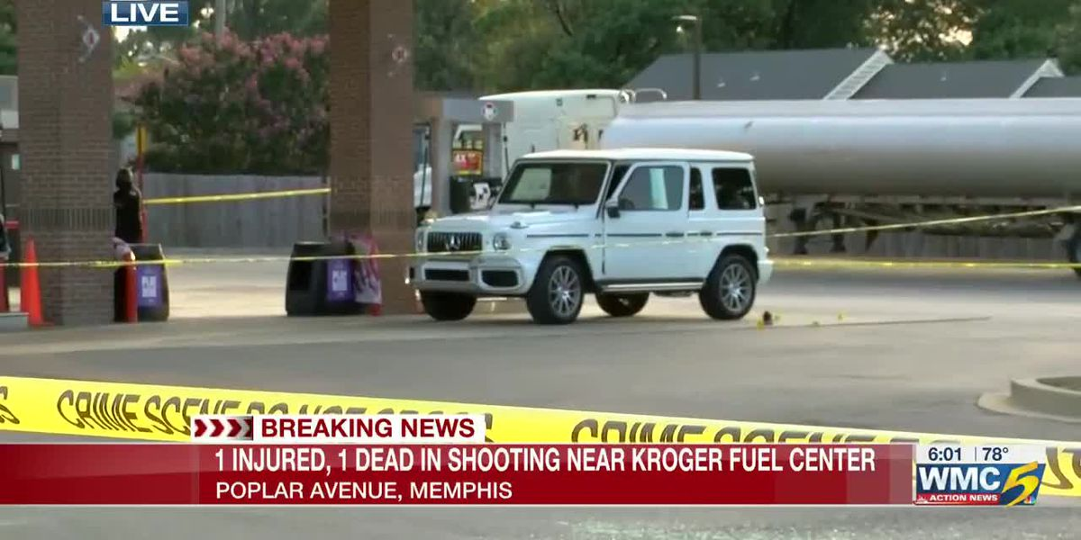 1 dead, another injured in shooting at Kroger gas station on Poplar Avenue