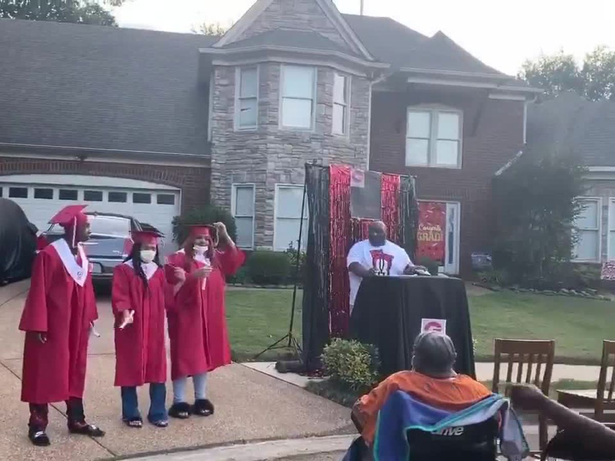 3 Mid-South high school seniors honored with driveway graduation