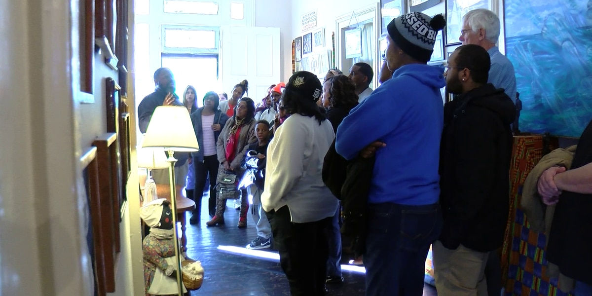 Visitors kick off Black History Month at Slave Haven Underground Railroad Museum