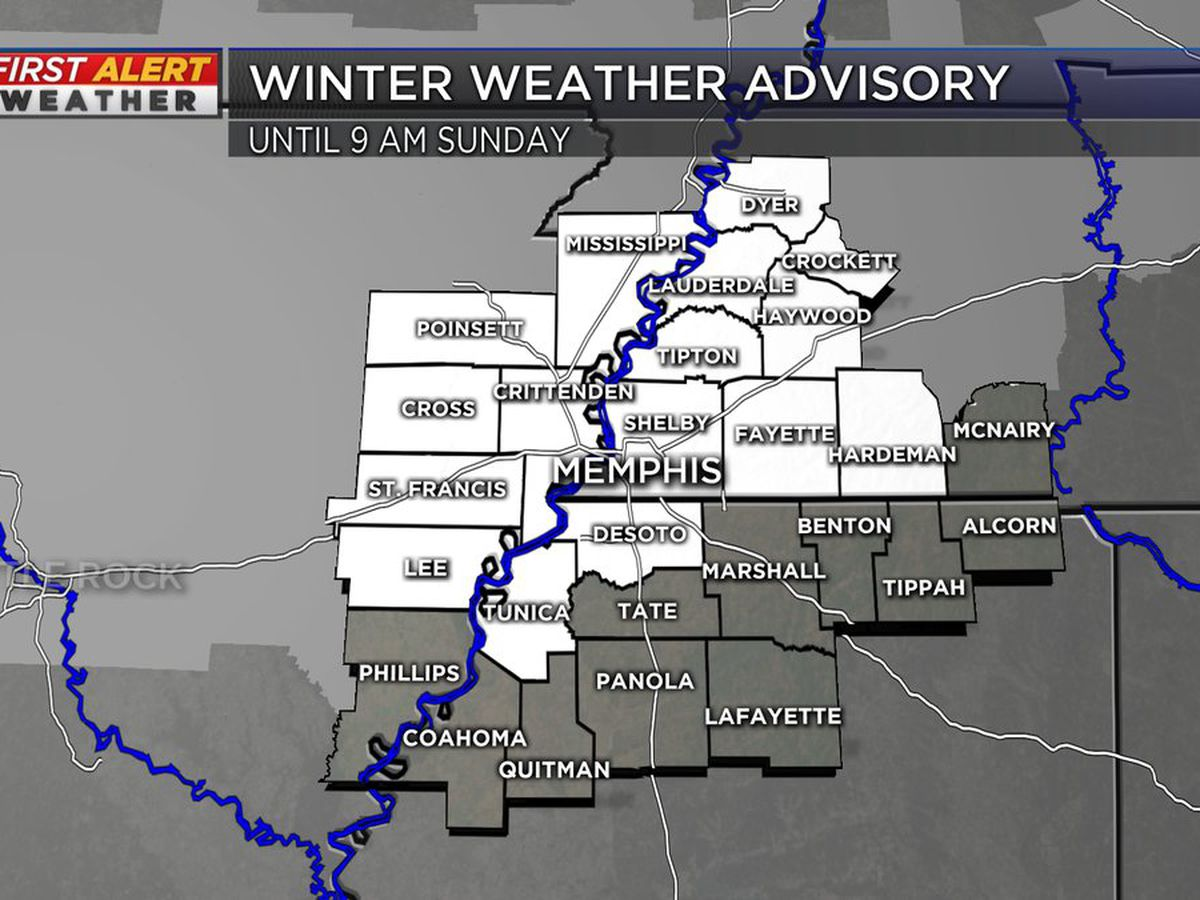 Winter Weather Advisory issued for part of the Mid-South