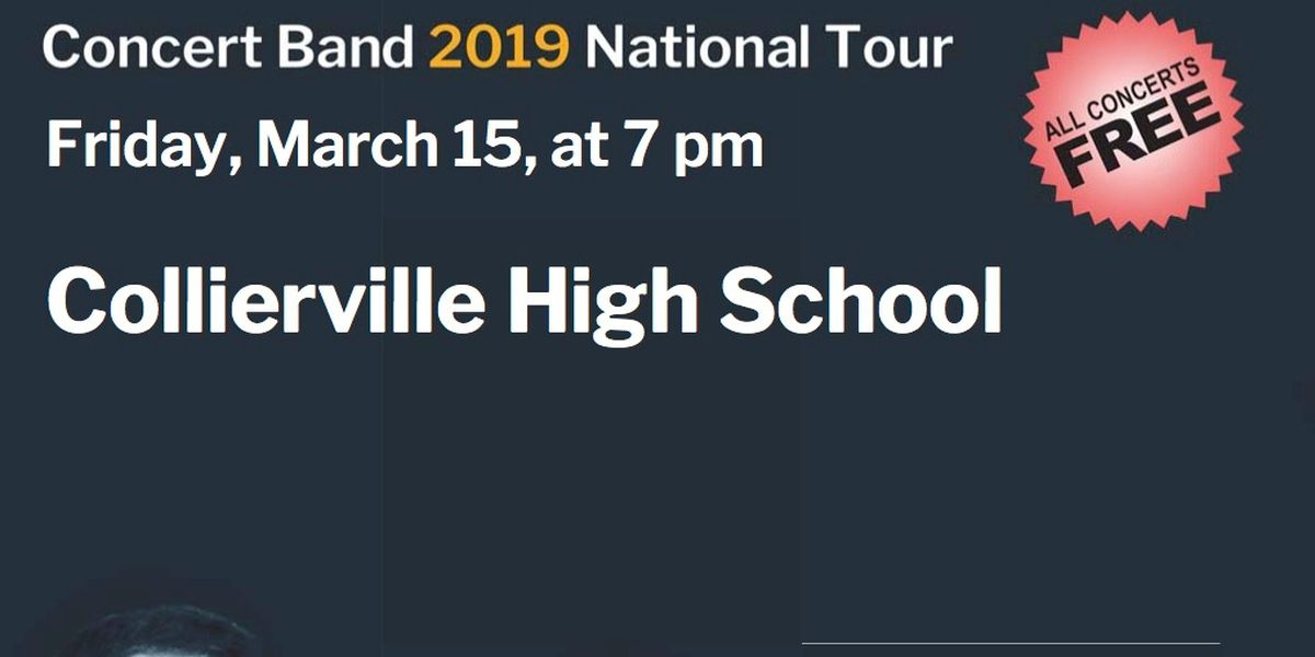 US Navy Band performing concert at Collierville High School