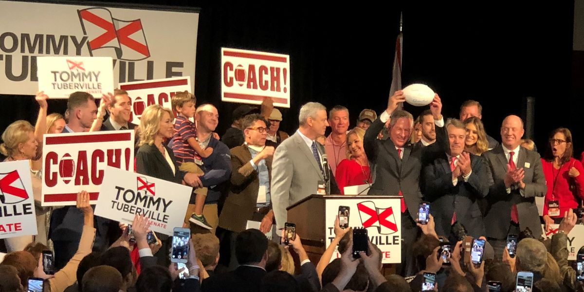 Tommy Tuberville wins Alabama US Senate seat