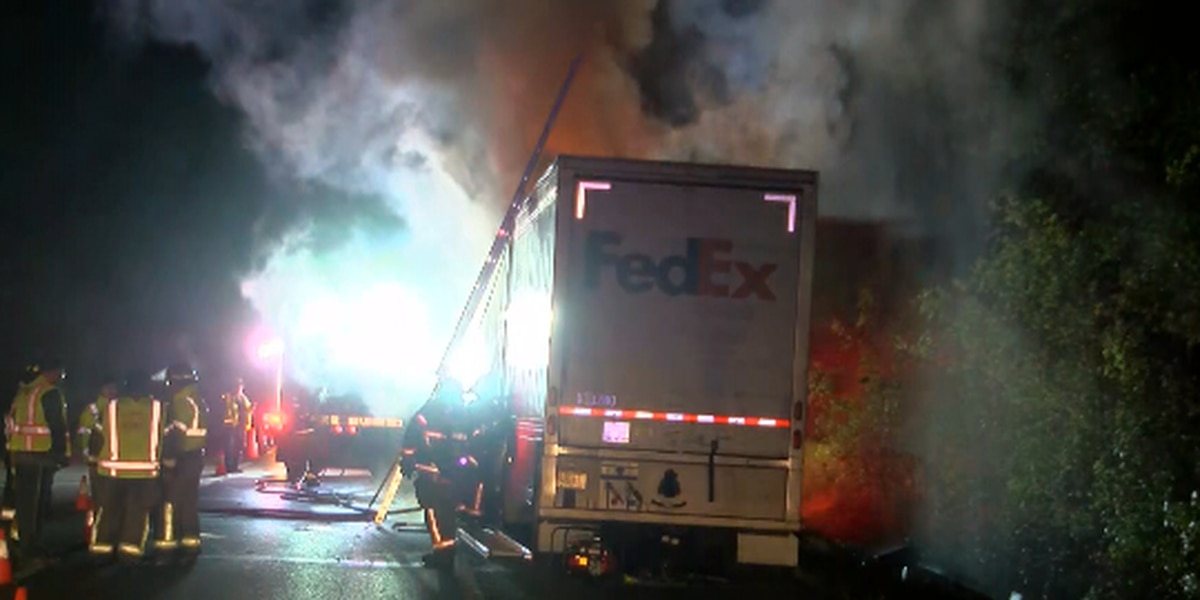 All lanes blocked on I-20W in Warren Co. for 18-wheeler fire
