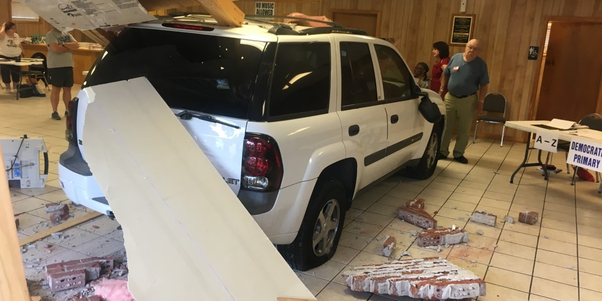 SUV crashes into Mississippi voting precinct