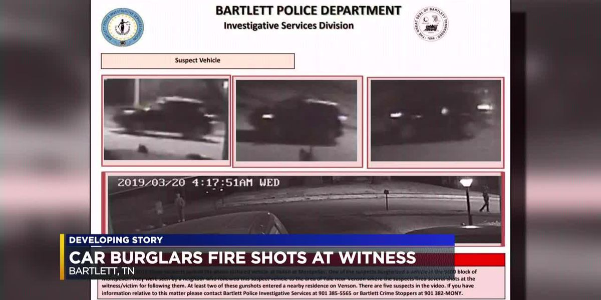 Witness tails car burglars, gets shot at