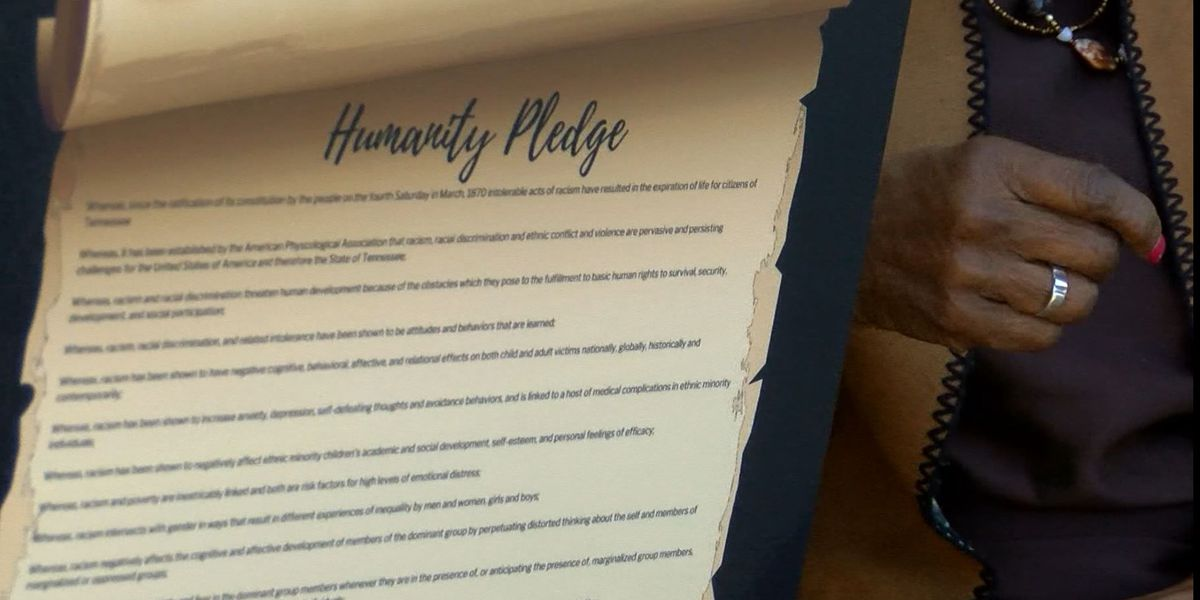 Mid-South lawmakers, organizations sign Humanity Pledge regarding racial discrimination