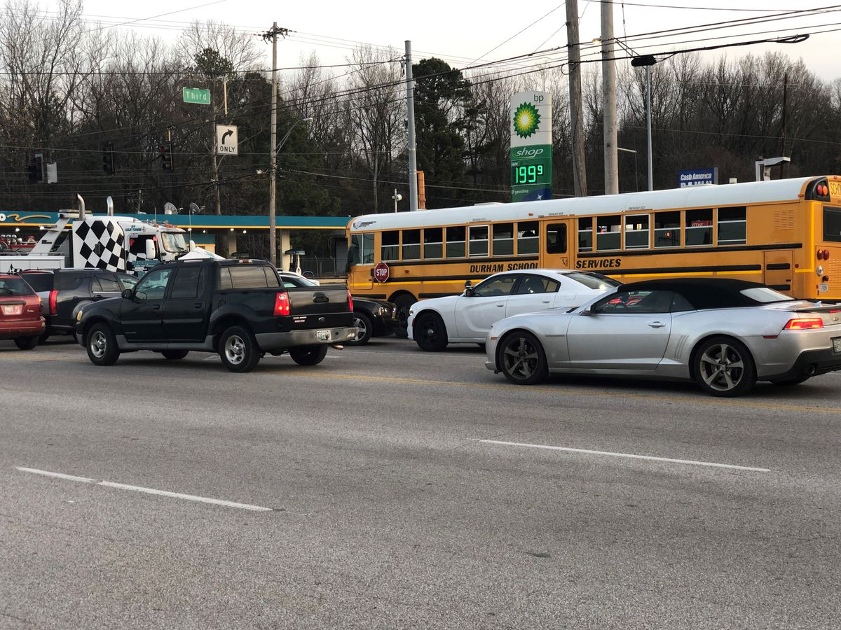 No Injuries Reported In Multi Vehicle Crash Involving