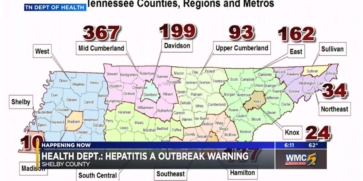 Shelby County Health Dept. confirms hepatitis A cases linked to nationwide outbreak