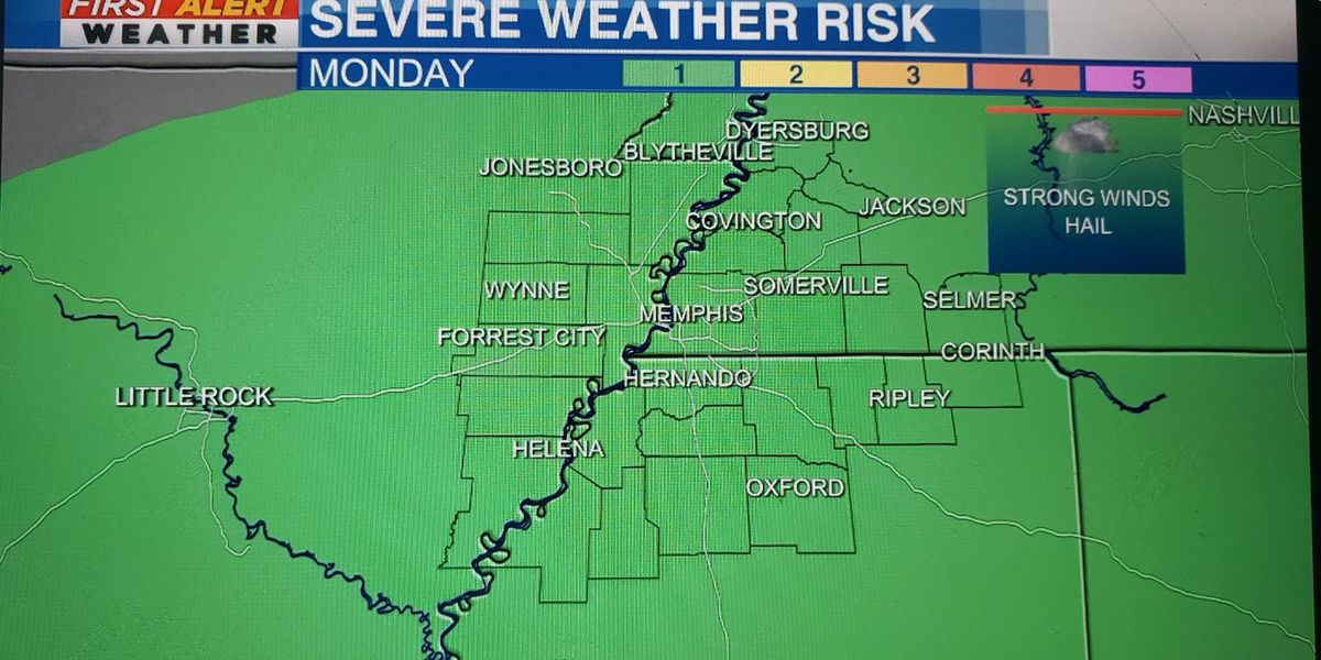 Marginal Risk for a few strong storms this afternoon