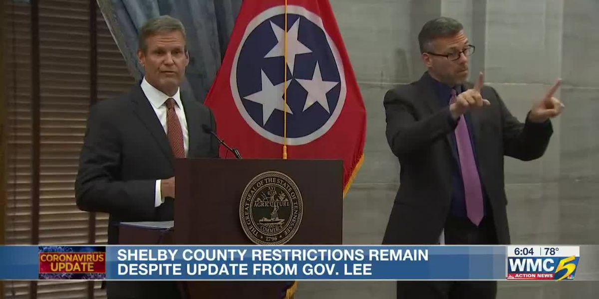Shelby County restrictions remain despite update from Gov. Lee
