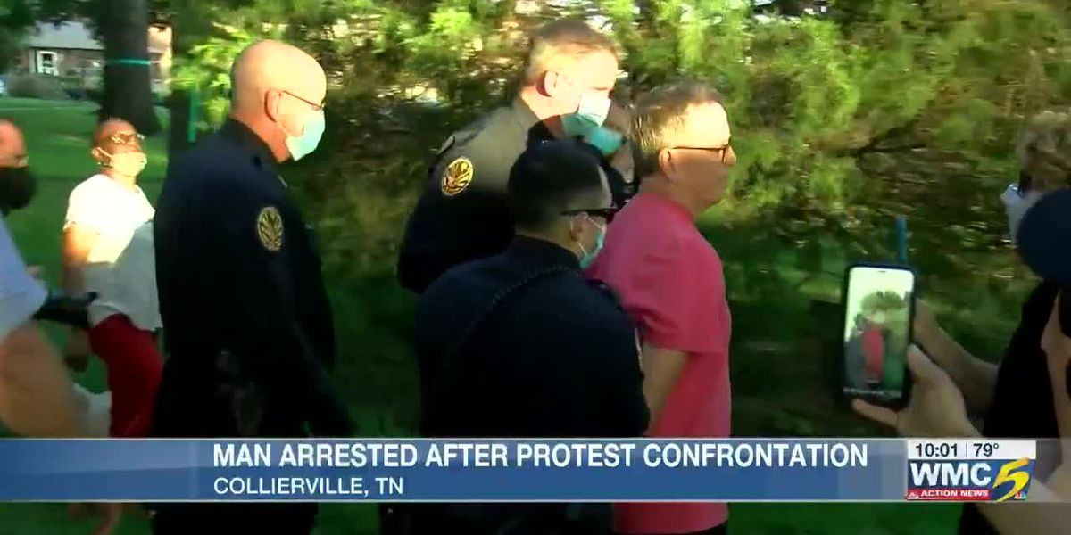 1 arrested, charged with assault at Collierville protest against Confederate monument